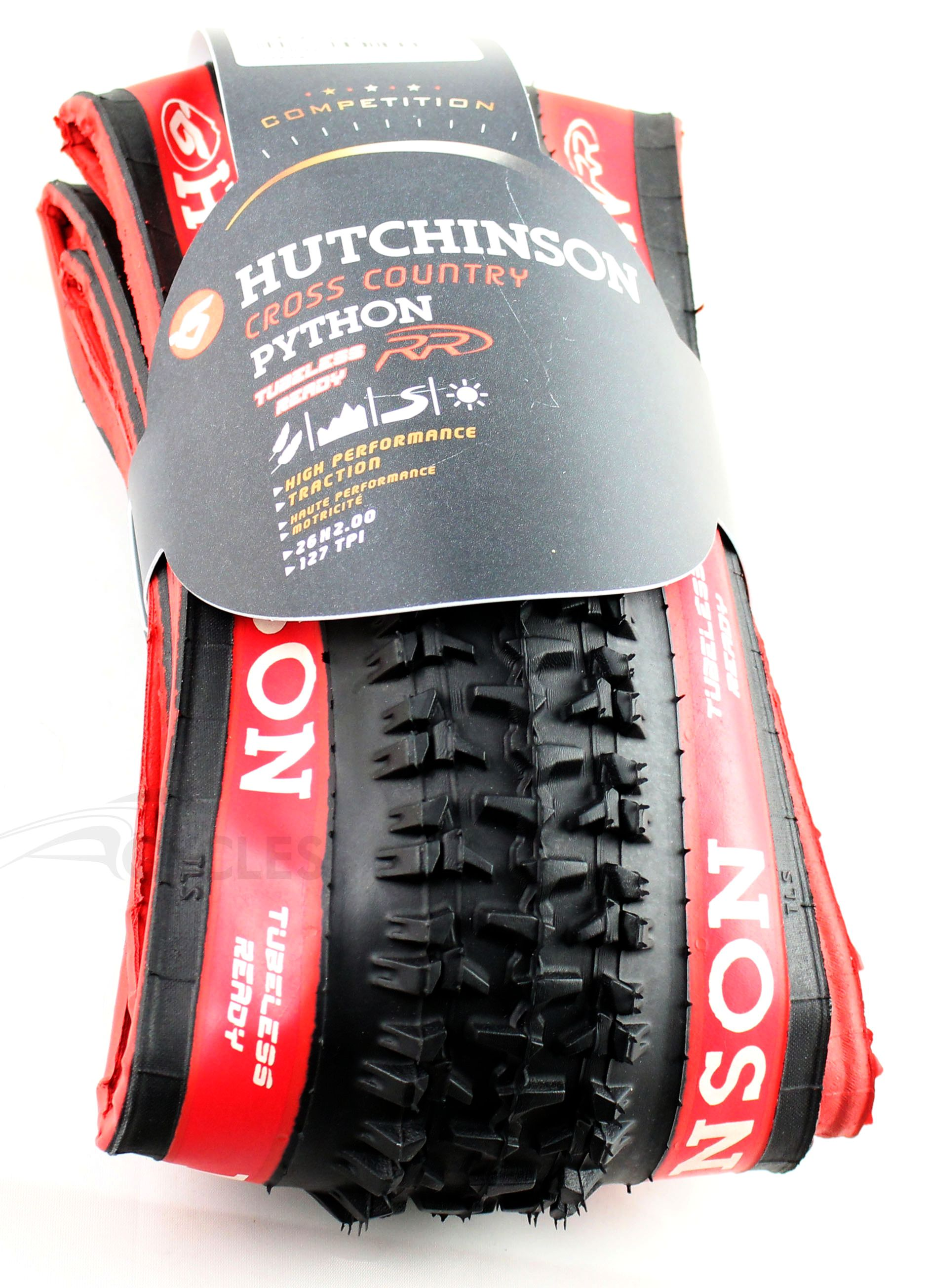 Hutchinson - Pneu Python RR Tubeless Ready 26x2.00 Souple Flancs Rouges